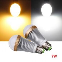 Dimbar E27 7W Varm / Pure Vit 7 LED Globe Ljus Lampa 110-240