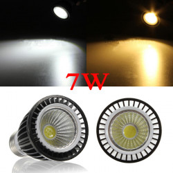 Dimmable E27 White/Warm White LED 7W COB Spot Light Bulb 220V