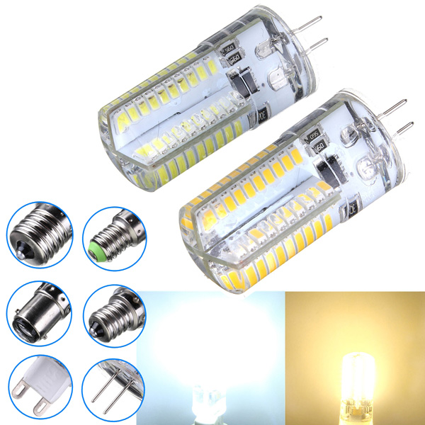 Dimmable G4 3W White/Warm White 3014SMD LED Bulb Silicone 110-120V LED Light Bulbs