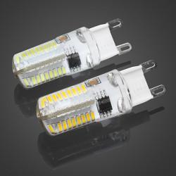 Dimmbare G9 5W Weiß / Warm White 72 SMD3014 LED Mais Glühlampe 220V AC