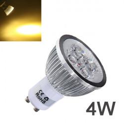 Dimmbare GU10 4W 4LED warmes weißes Licht LED Spot Birne 220V