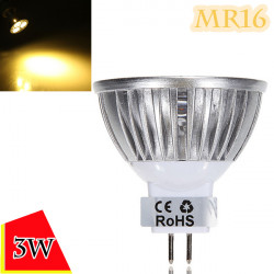 Dimmbare MR16 3W 300LM warmes weißes Licht LED Spot Bulb 12 24V