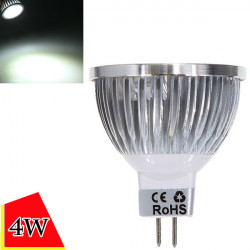 Dimmable MR16 4W 4LED Pure White Light LED Spot Bulb 12-24V