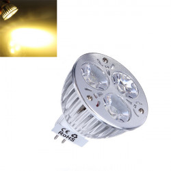 Dimmable MR16 9W 600LM Warm White Light LED Spot Bulb 12-24V