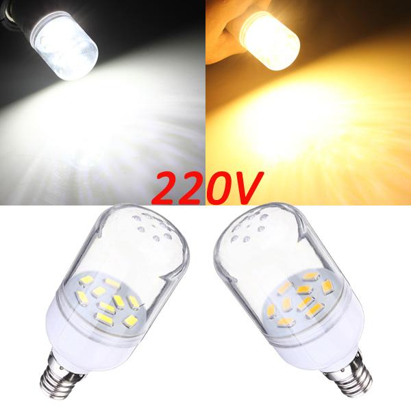 E12 150LM 2W Vit / Varmvit 9 SMD 5630 LED Corn Lampa Spotlight 220V LED-lampor