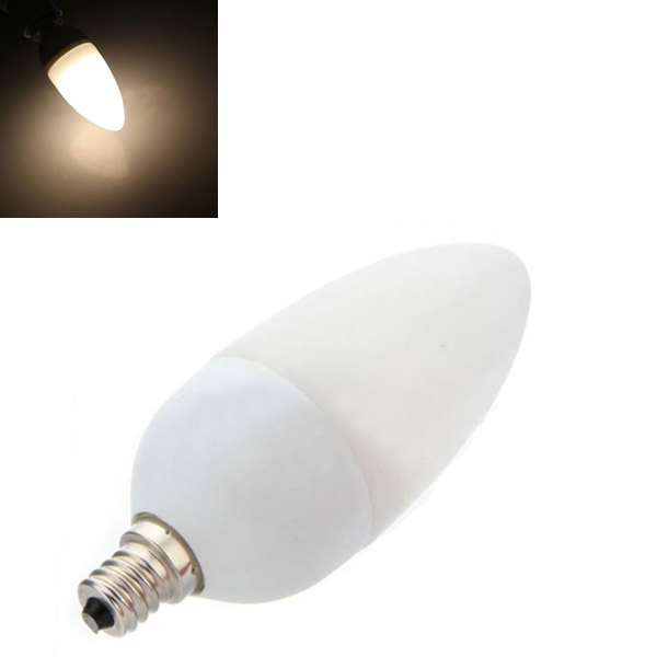 E12 2,5 W Varm Hvid 12 SMD LED Sparepære Candle Lamp Pære 110V LED-pærer