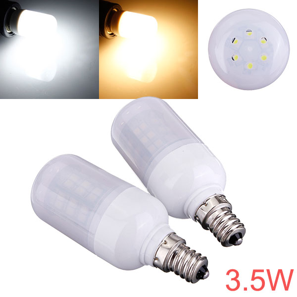 E12 3.5W 48 SMD 3528 AC 220V LED Corn Light Bulbs With Frosted Cover LED Light Bulbs