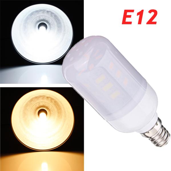 E12 3.5W White/Warm White 380LM 5730SMD 24 LED Corn Light Bulbs AC220V LED Light Bulbs