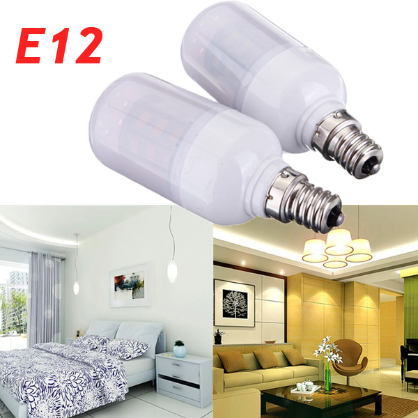 E12 3.5W White/Warm White 420LM 5730SMD LED Corn Bulb AC 12V LED Light Bulbs