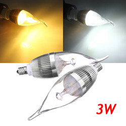 E12 3W 300-330lm LED Ljuskrona Candle Ljus Lampa 85-265V