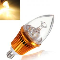 E12 4.2W 3LED nicht dimmbare Warm White Light Bulb Basis 85 264V