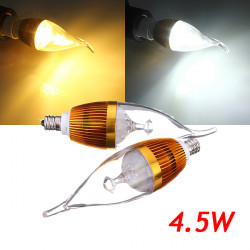 E12 4.5W 500-550lm Dimmable LED Candle Light Bulb AC 220V