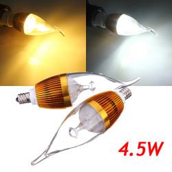 E12 4.5W 800-850lm Hvid / Varm Hvid 3LED Candle Lys Pære AC 85-265V