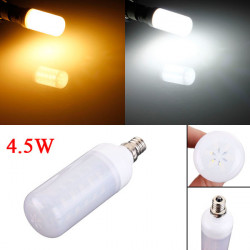 E12 4.5W White/Warm White 5730 SMD LED Ivory Light Corn Bulb 110V