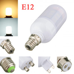 E12 4W 5730SMD Hvid / Varm Hvid LED Corn Lys Pære Ivory Cover 110V