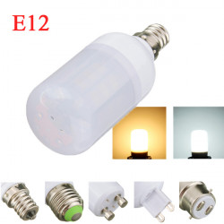 E12 4W White/Warm White 5730SMD LED Corn Bulb Light Ivory Cover 220V