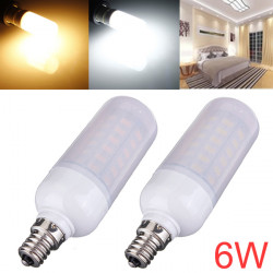 E12 6W 880LM SMD 5730 AC 220V LED Corn Bulbs With Frosted Cover