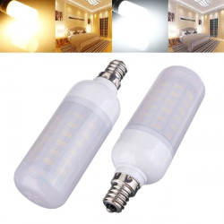 E12 6W White/Warm White 5730SMD LED Corn Bulb Frosted Cover AC 110V