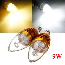 E12 9W Hvid / Varm Hvid 3 LED Lysekrone Candle Lys Pære 85-265V