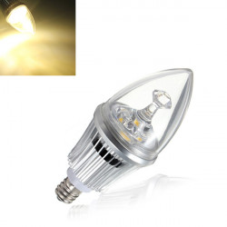 E12 Dæmpbar LED Lamper 4.2W Varm Hvid Candle Lys Lampe 85-264V
