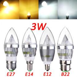 E12 E14 E27 B22 Dimmbare 3W LED Kronleuchter Kerze Glühlampe 220V