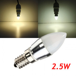 E14 L23 A 2.5W warmes weißes / weißes LED Aluminium Die Birne 230V Casting
