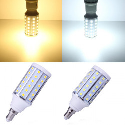 E14 10W Warm White/White 60 SMD 5050 85-265V LED Corn Light Bulb