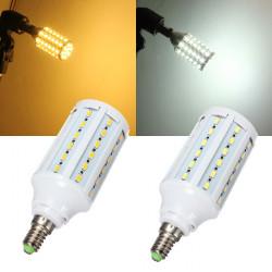 E14 15W Vit / Varmvit 5630SMD 60 LED Lampa 110V