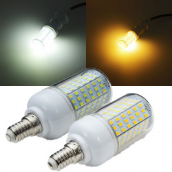 E14 2520LM 126SMD 2835 15W Warm Whtie / weiße LED Mais Licht 220V