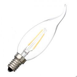 E14 2W Varmvit Glödlampa Candle Ljus Lampa 220V