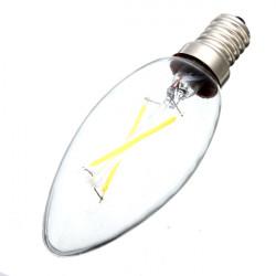 E14 2W Varmvit Glödlampa Retro Candle Ljus Lampa 220V