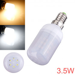 E14 3.5W 48 SMD 3528 AC 220V LED Corn Light Bulbs With Frosted Cover