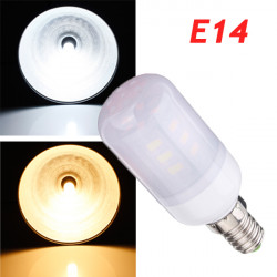 E14 3.5W White/Warm White 380LM 5730SMD 24 LED Corn Light Bulbs AC220V