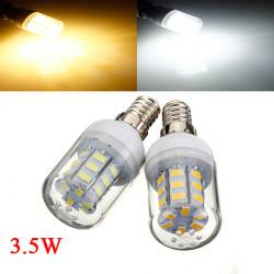 E14 3.5W Vit / Varmvit 5730 SMD 27 LED Lampa 24V