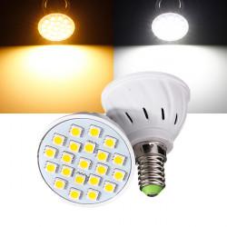 E14 3W 21 LED 5050 SMD Pure / Varm Hvid Lys Pære Lampe 110V