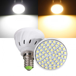E14 3W 60 LED 3528 SMD Pure/Warm White Light Bulb Lamp 110V