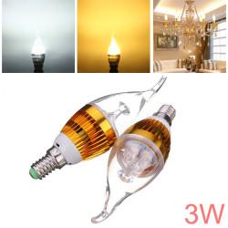 E14 3W AC85-265V White/Warm White Golden Cover LED Candle Light Bulb