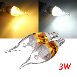 E14 3W Dimmable White/Warm White LED Chandelier Candle Light Bulb 220V