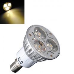 E14 3W Varmvit 3 LED Energisparande Spotlight Lampa 85-240V