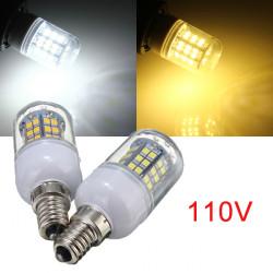 E14 3W Warm White/White 48 LED 2835 SMD Corn Light Bulb Lamp 110V