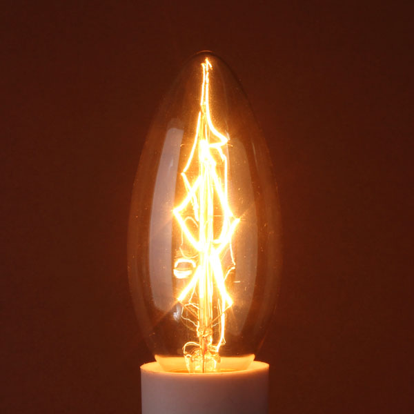 E14 40W Vintage Antique Edison Incandescent Candle Bulb 110V/220V LED Light Bulbs