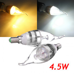 E14 4.5W 500-550lm Dimmable White/Warm White LED Candle Bulb 220V