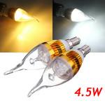 E14 4.5W 800 850lm weiße / warme weiße 3LED Kerze Glühlampe AC 85 265V LED Lampen