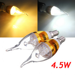 E14 4.5W Golden Dimmable White/Warm White LED Candle Bulb 220V