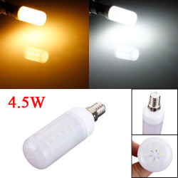 E14 4.5W White/Warm White 5730 SMD LED Ivory Light Corn Bulb 110V
