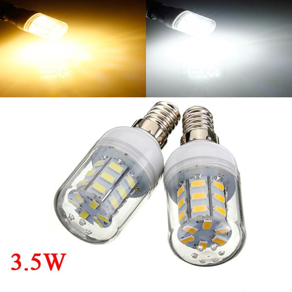 E14 4W Vit / Varmvit 5730 SMD 27 LED Lampa 12V LED-lampor