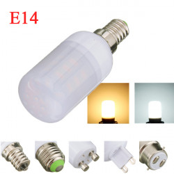 E14 4W White/Warm White 5730SMD LED Corn Bulb Light Ivory Cover 220V