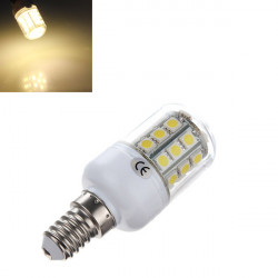 E14 5050 SMD 30 LED 3.2W Warm White 3500K Corn Bulb With Cover 220V