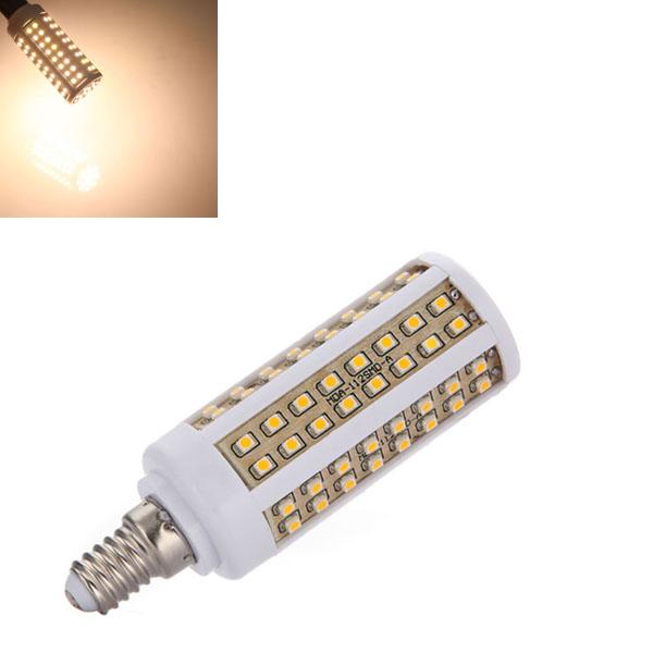 E14 5.5W 550LM Varm Hvid 112 SMD 3528 LED Corn Lampe Pære 85-265V LED-pærer