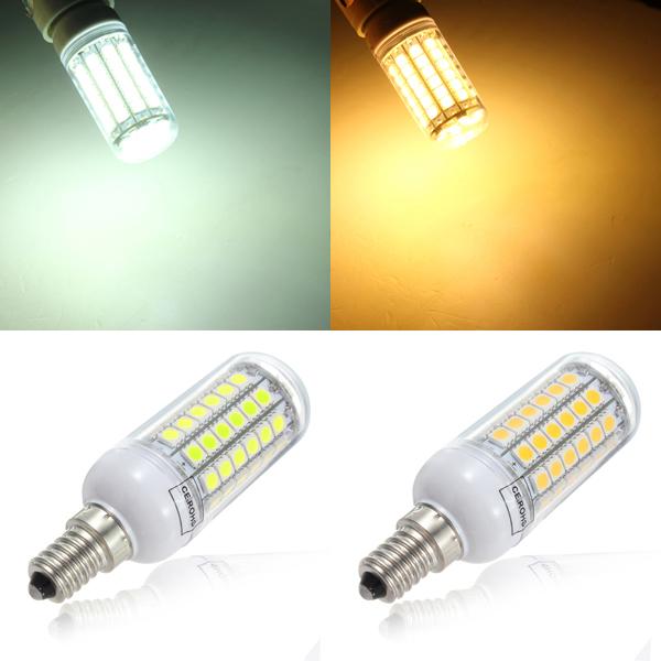 E14 5.5W 828LM 69SMD 5050 LED Power Sparepære Corn Lys Pære 220V LED-pærer
